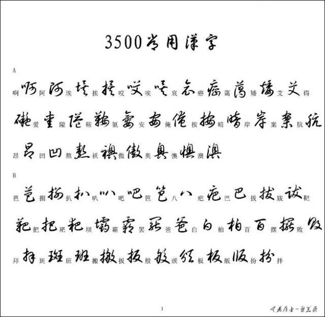 草书字帖6000常用字