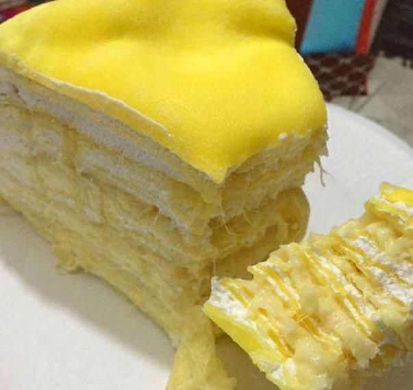 榴蓮千層蛋糕——喜歡吃的人每吃一口都是享受!