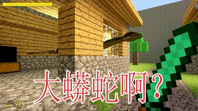 我的世界:没想到村民的家门口发现了大蟒蛇?