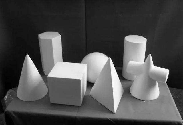 素描石膏几何体图片,高考素描学习临摹参考素材图片