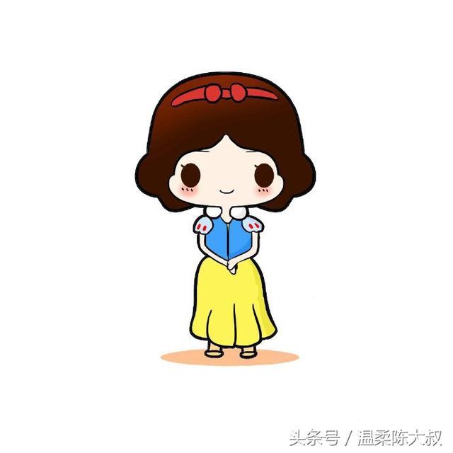 小学生涂色的白雪公主简笔画图片_简笔画网