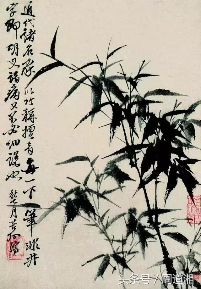 孙其峰图文示范墨竹画法及画竹子的步骤,拿去点赞,收藏