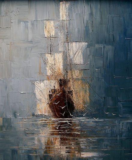 波兰女画家雷娜塔的大笔触油画,洒脱!