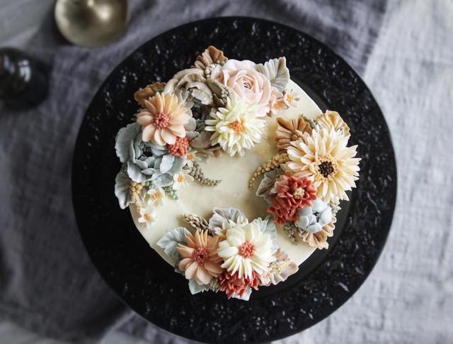 糟糕,是心動的感覺!看完這些韓式裱花蛋糕,瞬間讓人想結婚了!