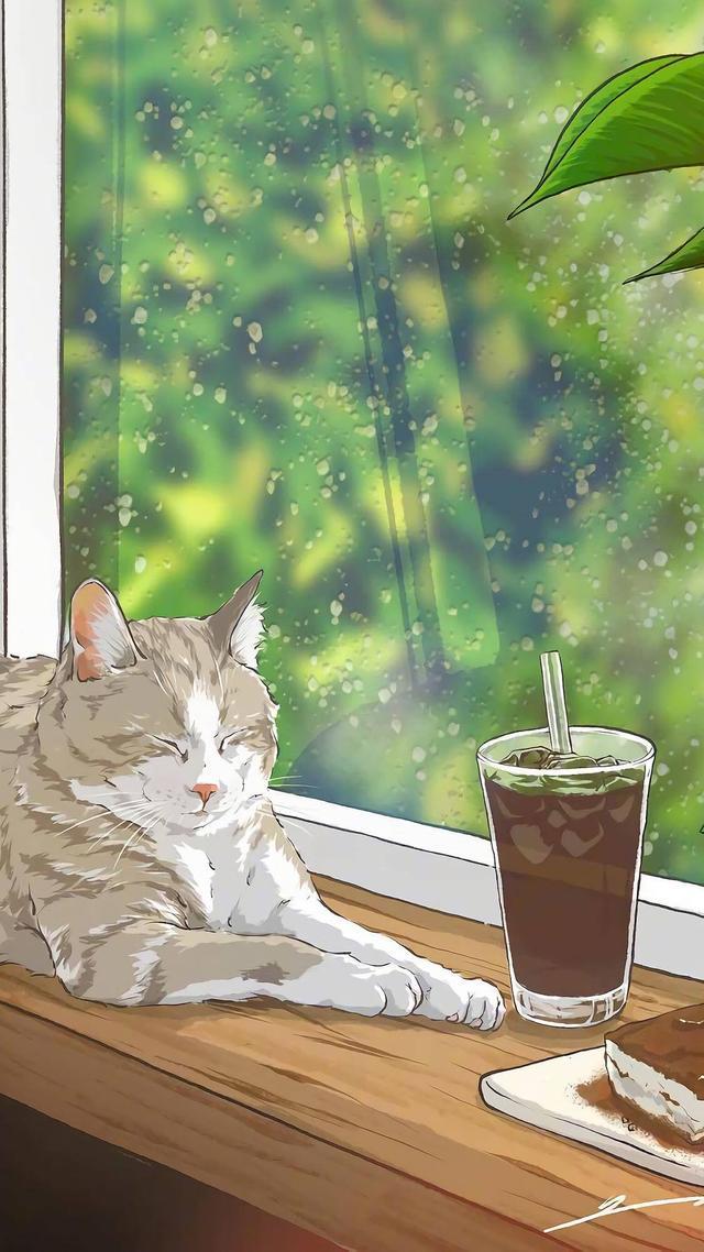 动漫壁纸猫,动漫插画小猫咪壁纸