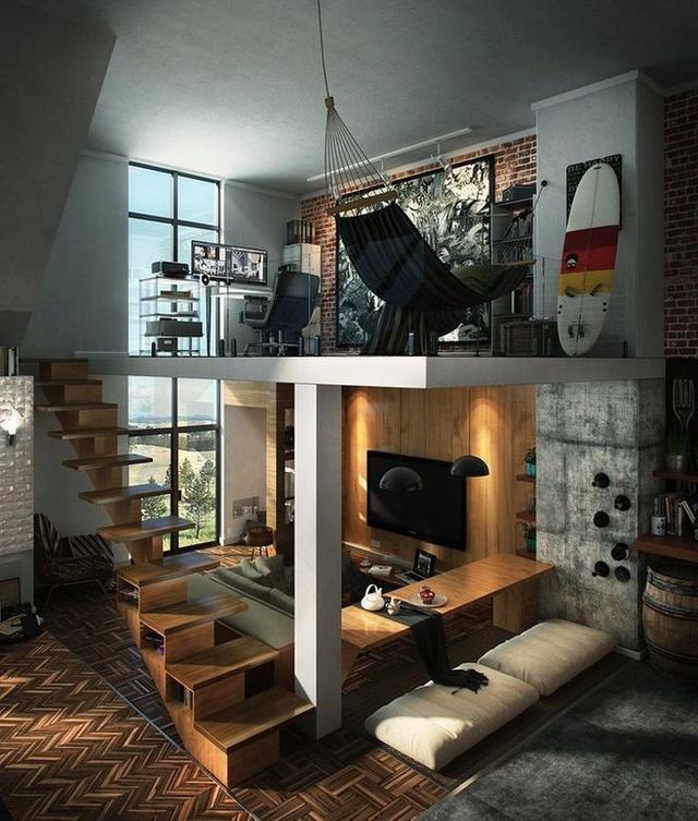 50平方复式公寓设计图
