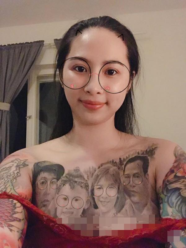 """越南美女痴迷纹身,敏感部位都被丈夫纹上""""全家福"""""""