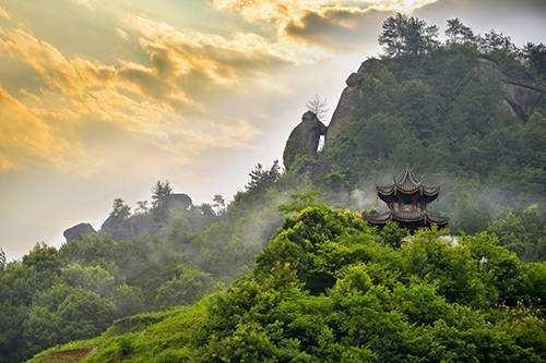 浙江名胜   缙云黄龙:一处清静、幽雅的佛教圣地