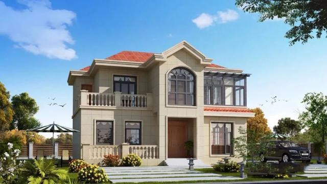 10万左右二层农村自建房屋设计图,宅基地有限制的业主可以选择