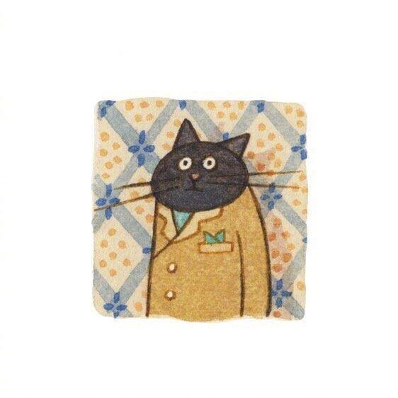 画师Eunyoung Seo 笔下的喵星人小头像,好可爱 乖乖的小猫咪-第1张图片-深圳宠物猫咪领养送养中心