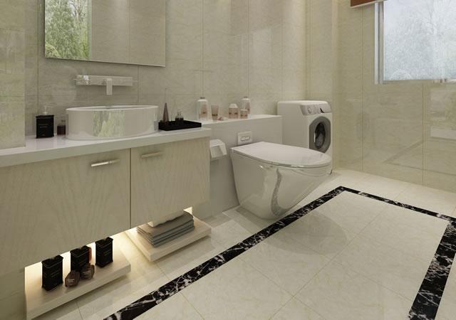 卫生间台盆柜设计装修效果图