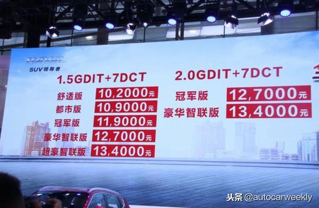 全新哈弗H6冠军版正式上市 售价10.2万元-13.4万元