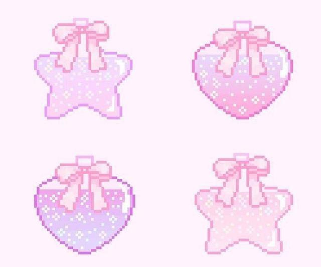 「粉色卡通头像」粉色卡通少女心头像,粉粉嫩嫩的魔方甜点壁纸
