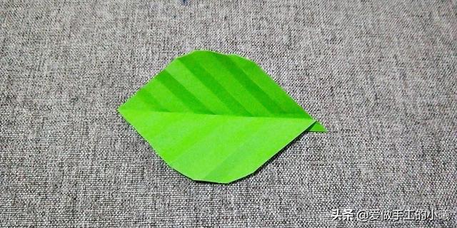 折纸教程:小清新树叶折纸图解