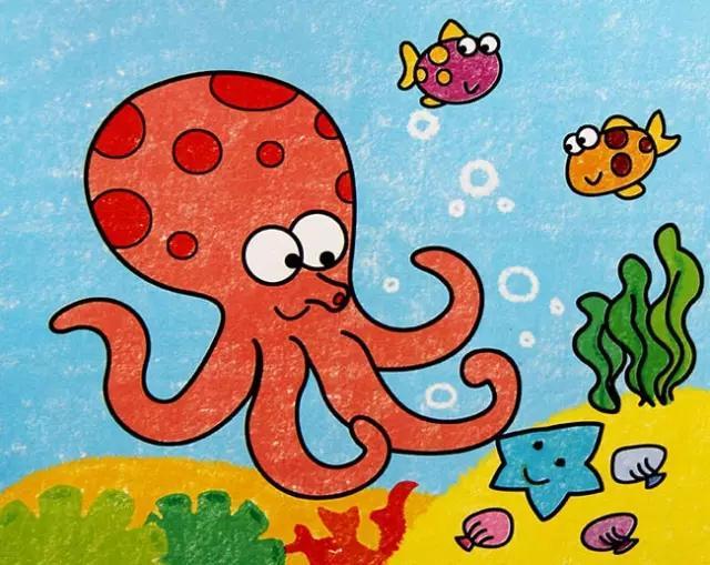 小学生油画棒科幻画:我们的学校在太空船上_儿童画教程_学画...