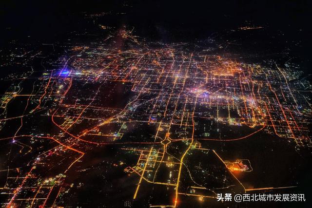银川夜景图片实拍