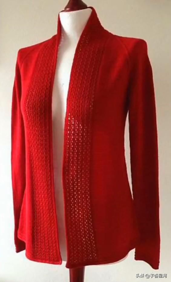 好羡慕!为什么高手编织的开衫毛衣外套,这么漂亮呢?喜欢吗?