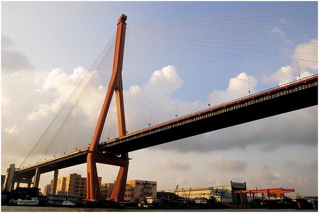 杨浦大桥题字图片