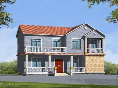 农村三层洋房图片大全-别墅图纸库-自建房设计大全-图纸之家