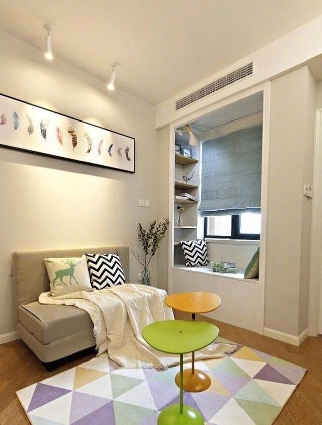小户型书房兼卧室装修