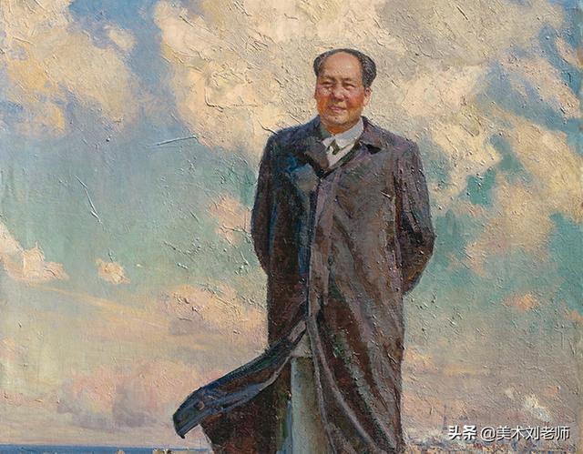新中国伟人素描头像