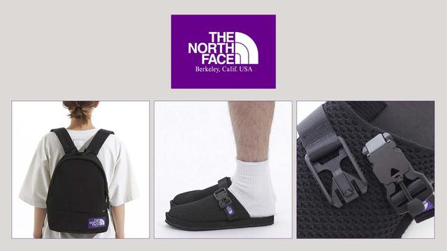 The North Face(北面)紫標系列新品,背包、涼鞋最搶手