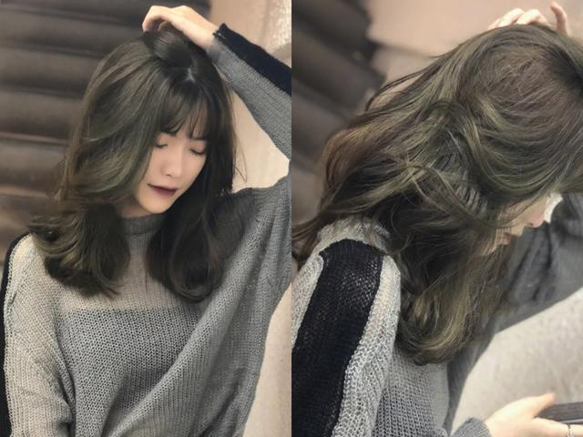 抹茶绿头发