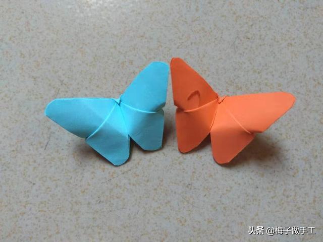 简单的手工折纸 简单蝴蝶折纸步骤图解_酷知经验网