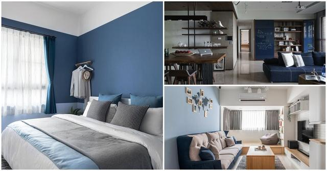 「经典蓝」5种家装配色组合实例,装修小白也能打造出美丽的家