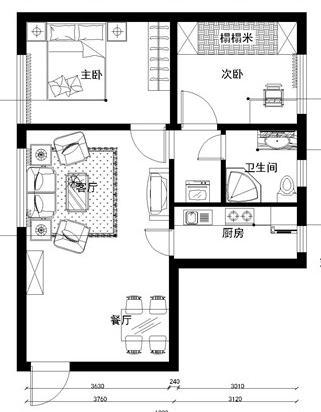 两室两厅85装修效果图
