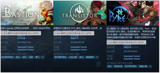 Supergiant Games动作新游《哈迪斯/Hades》Steam畅销第2、好评98% Supergiant Games、Hades、Steam 游戏资讯 第4张