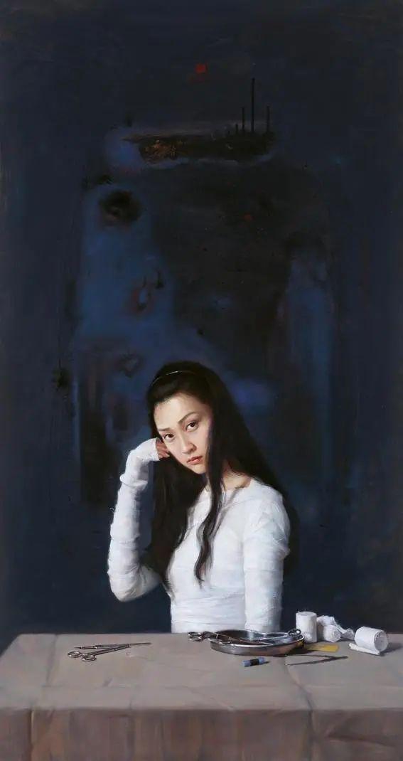 诗化艺术风格,画家吴威笔下的唯美女子