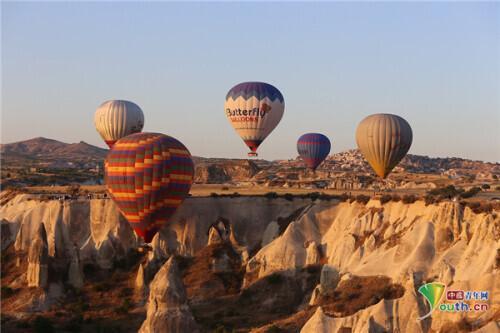 土耳其热气球风景