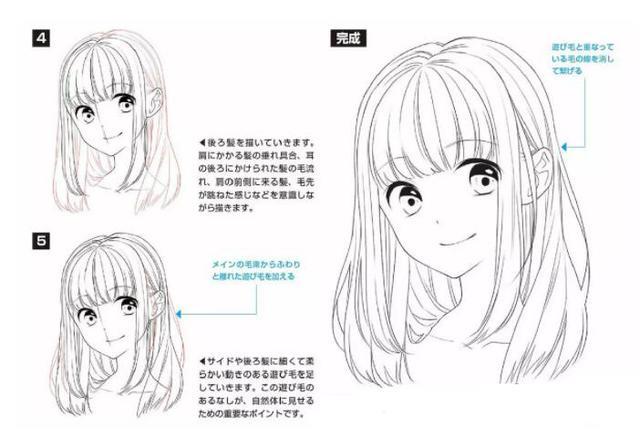 漫画女生画法