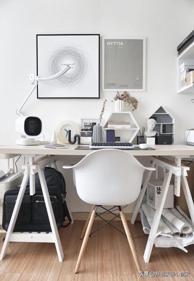 书柜电脑桌组合图片 书柜电脑桌一体图片_欧派