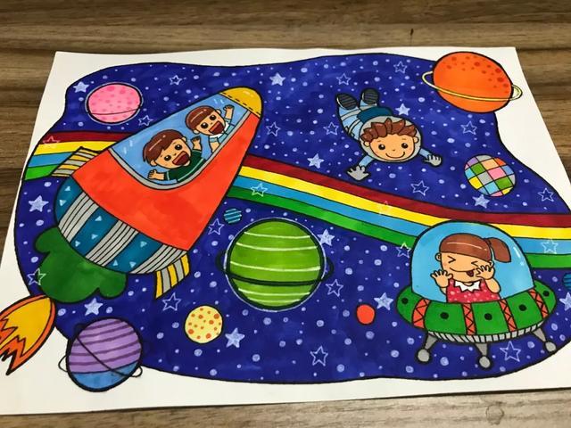 15张科幻儿童简笔画教学!宝妈的必杀招!