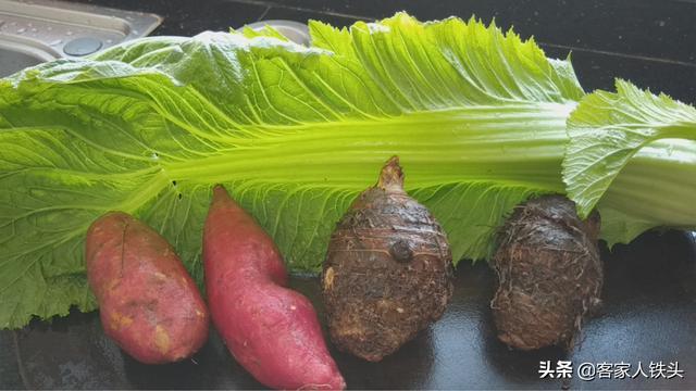 红薯别只会蒸着吃,试试做一锅客家靓汤,营养味美,一大锅不够吃