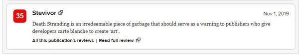小岛秀夫《死亡搁浅》MC媒体综合评分两极分化严重 IGN 游戏资讯 第3张