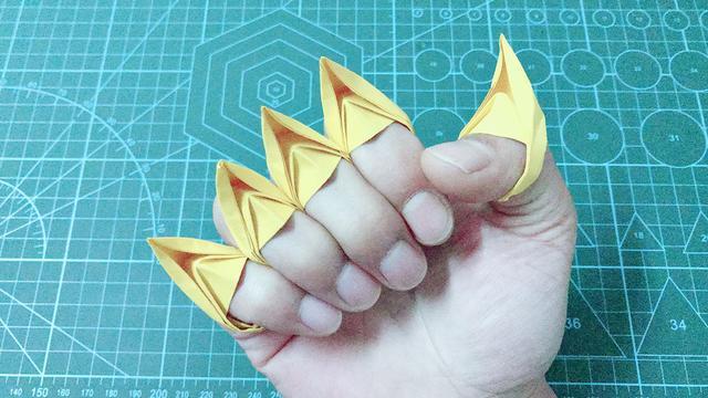 只需一张纸简单几步折一个宝石戒指,女生都喜欢,手工视频教程