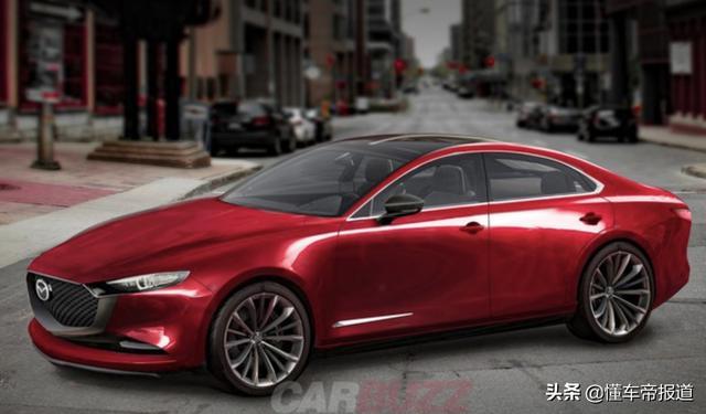 新车 | 全新马自达6效果图曝光,后驱+六缸,最大功率350马力?