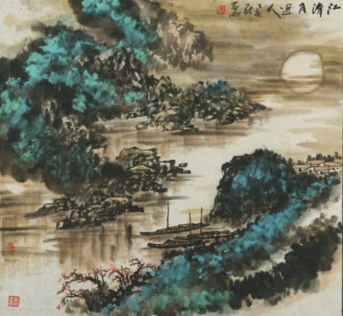 """江上曲,""""临江仙""""词牌 诗词曲150卷:曲终人不见,江上数峰青"""