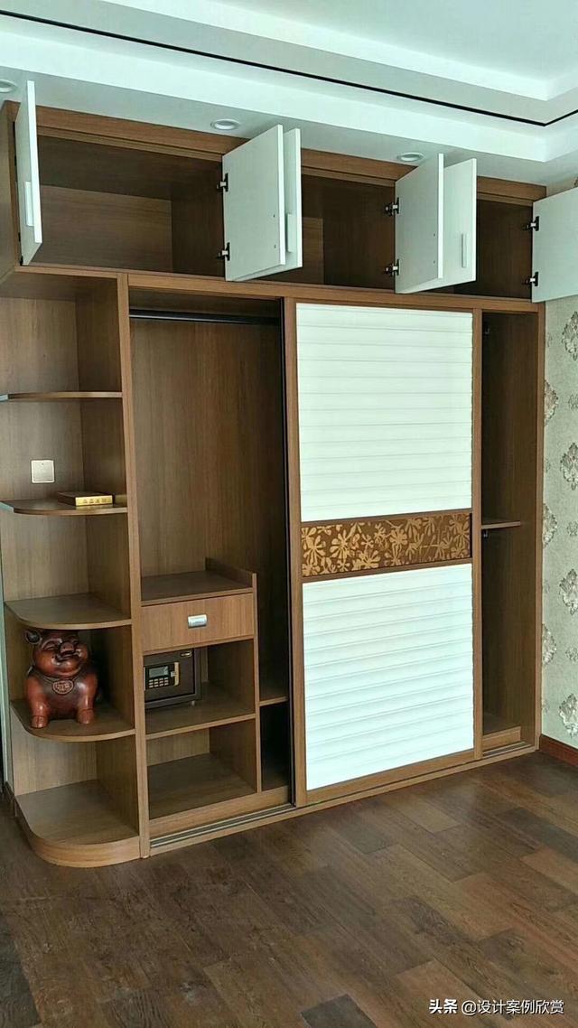 一组实用衣柜设计+设计图纸,尺寸都标注在上面,装修可以参考