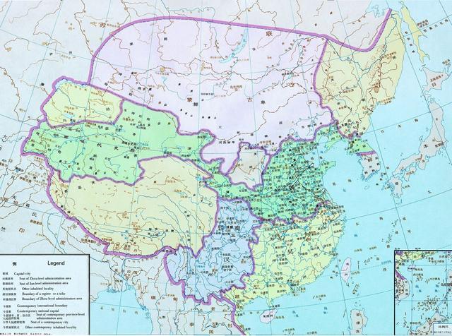 清朝时中国地图什么样子