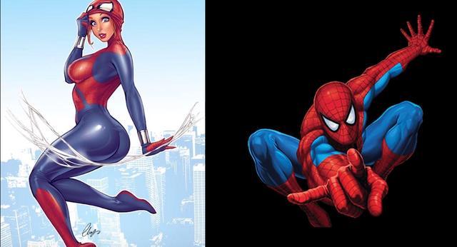 漫威英雄娘化,当漫威超级英雄变成女孩子!蜘蛛侠和钢铁侠究竟谁更美?