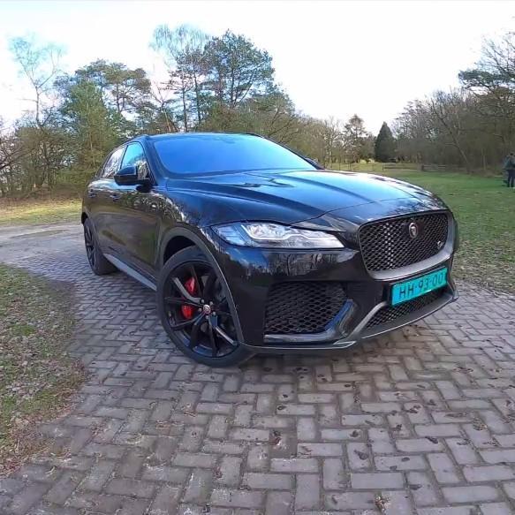 捷豹首款SUV Jaguar F Pace SVR 5.0 V8增压550HP高清第一视角