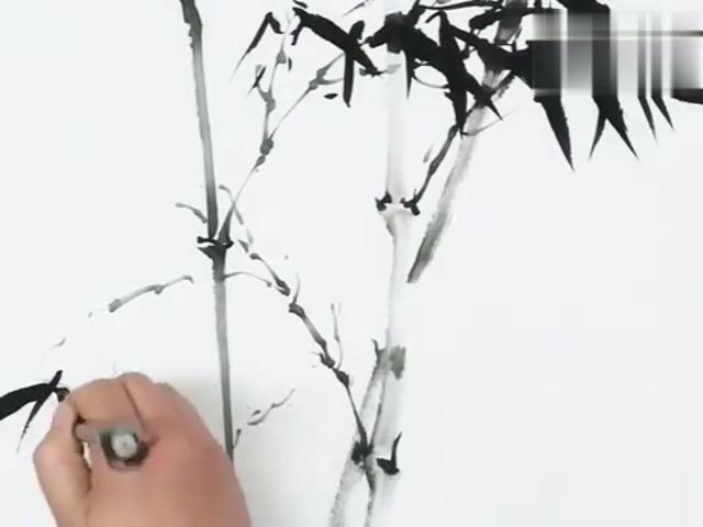竹子图片水墨画