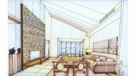 室内家具手绘线稿图片素材_红动手机版