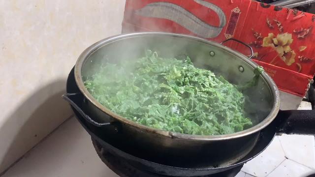 粉蒸芹菜叶做法步骤