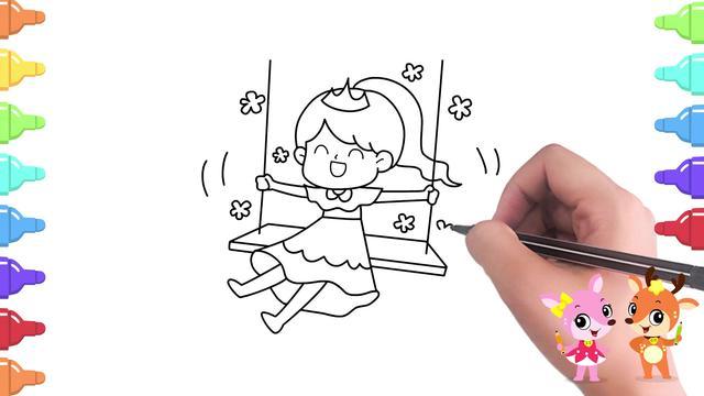 画小公主简单又可爱
