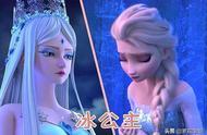 国漫和好莱坞的冰雪公主,同样的妆容,国漫在一个小小细节上完败